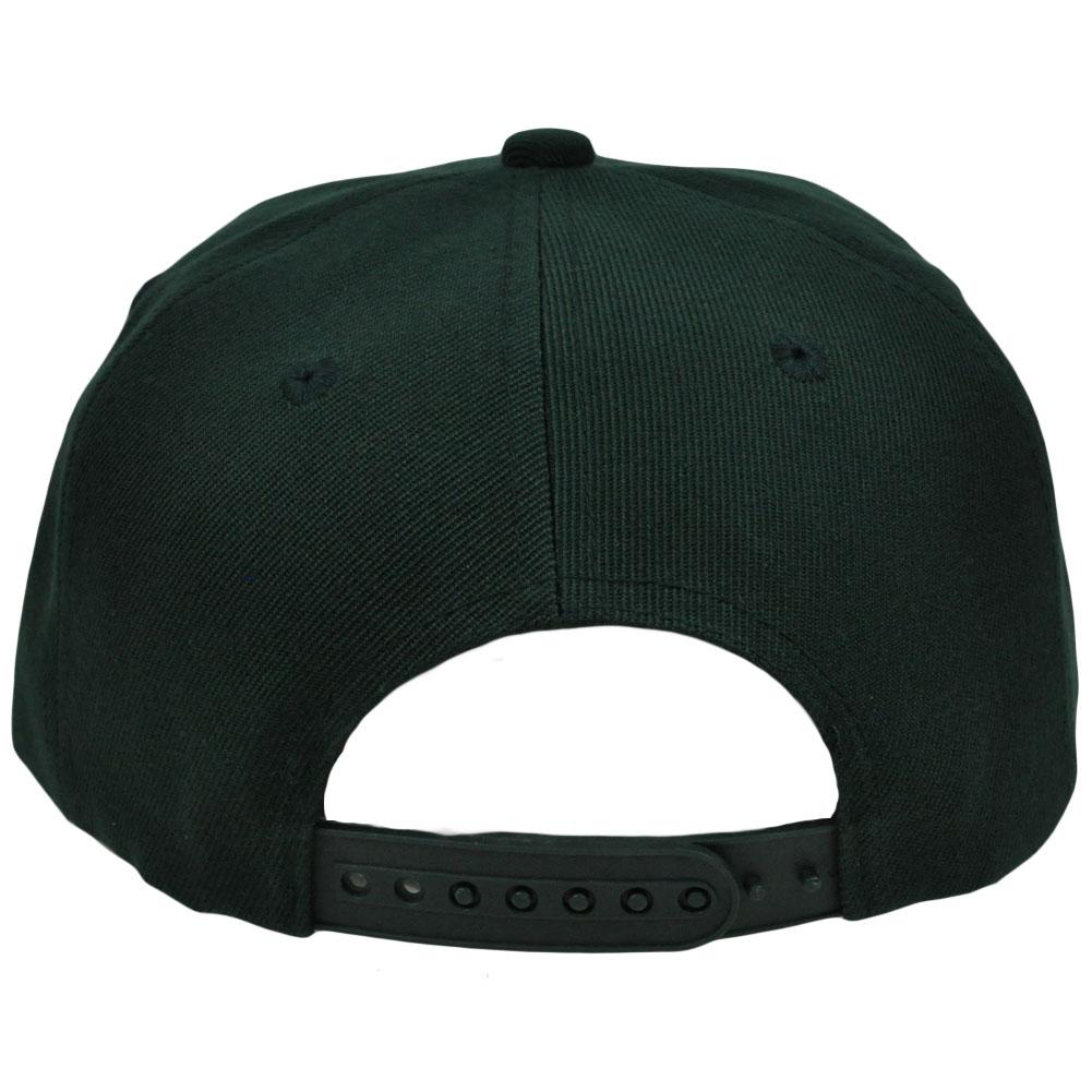 Blank Black Snapback Hats Template