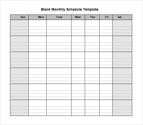 - Free Daily Work Schedule Template, Printable Weekly Work Schedule ...
