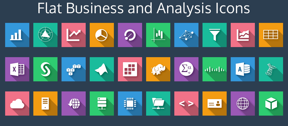 12 Free Business Icons Flat Images