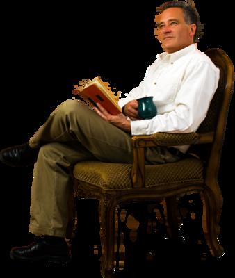 Business Man Sitting Image