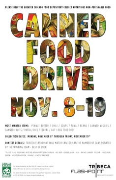 holiday food drive flyer template