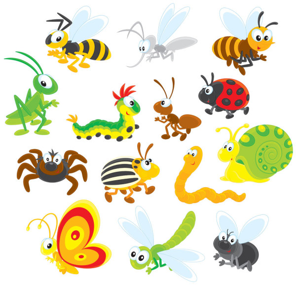 16 Vector Insect Cartoon Images