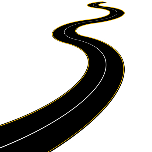 Cartoon Winding Road Vector