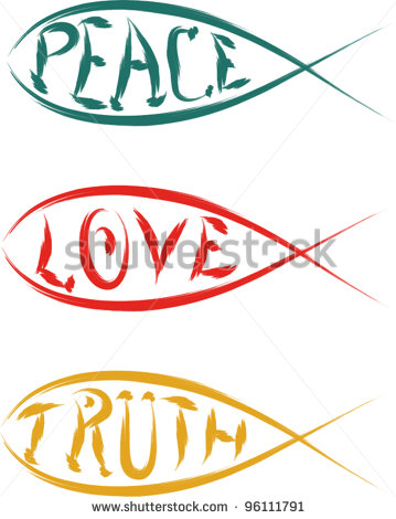 Christian Fish Logos Clip Art