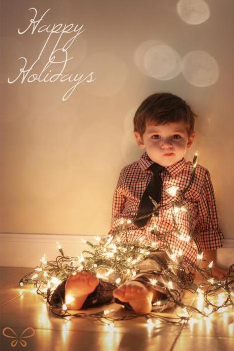 Christmas Card Picture Ideas with Lights