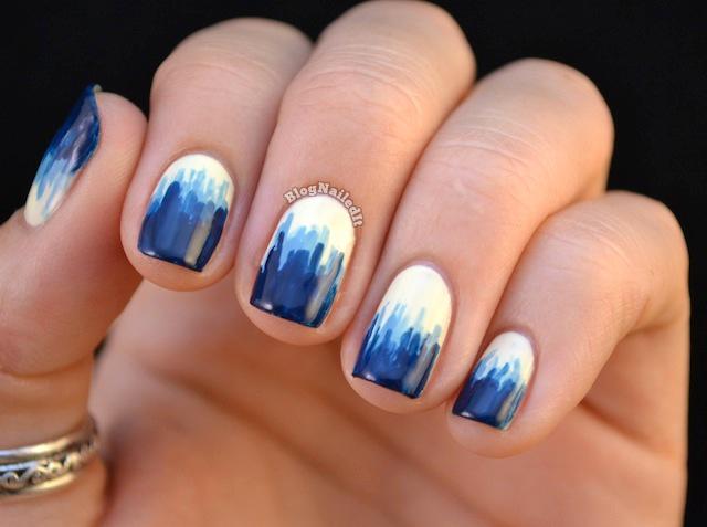 16 Cool Blue Nail Designs Images Cool Blue Nail Design Nail Art