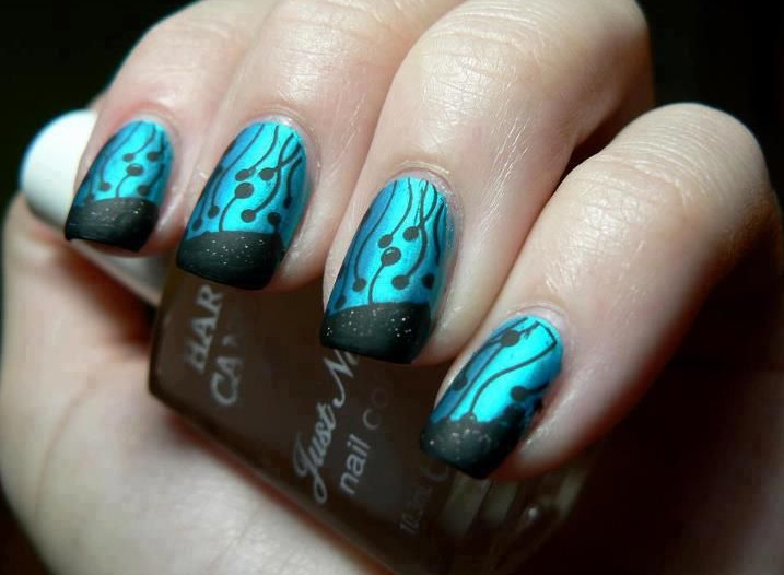16 Cool Blue Nail Designs Images