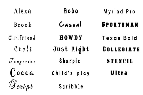 Cool Font Styles Examples