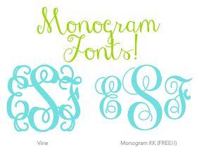 Cricut Monogram Font Download
