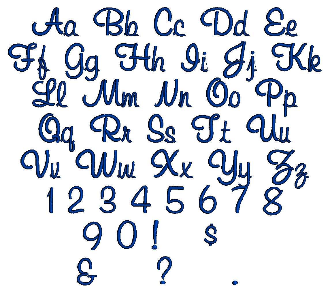 Cursive Font Alphabet Letters