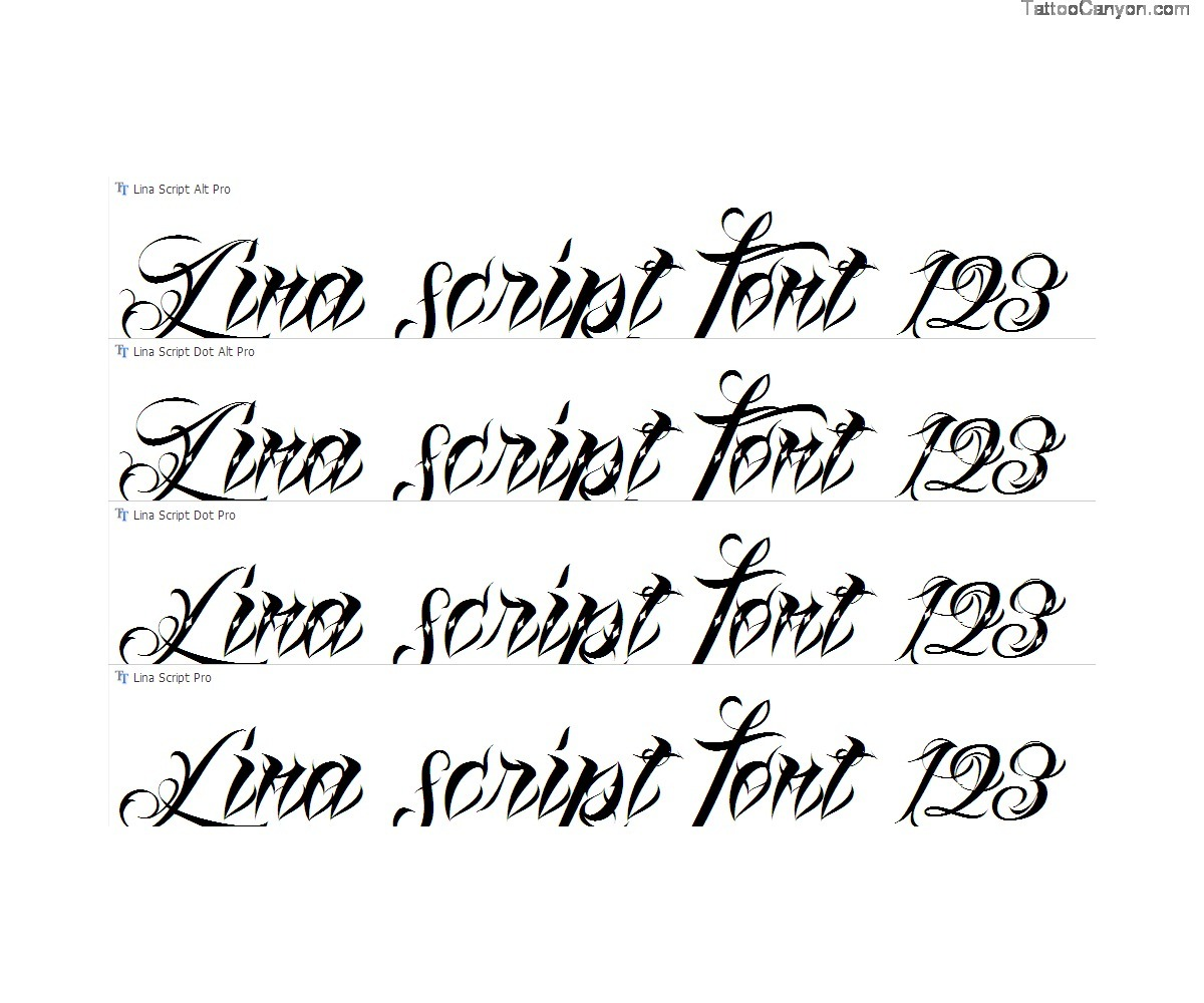 Cursive Tattoo Fonts Script