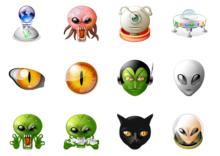 Cute Alien Icons