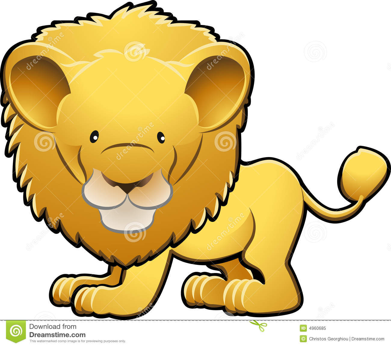 Cute Lion Clip Art