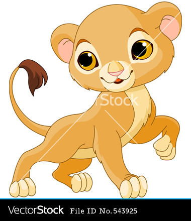 Cute Lion Cub Clip Art