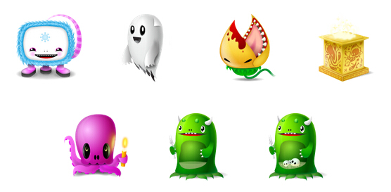Cute Monster Cartoons Desktops