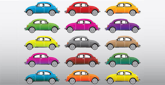 13 Colored Car Free Vector Icons Images