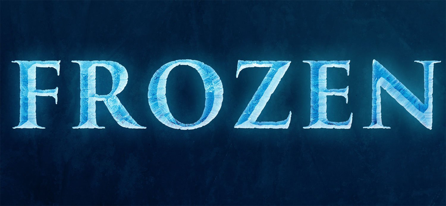 Disney Frozen Font Photoshop