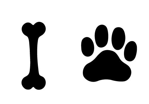 13 Dog Bone Vector Halloween Border Images