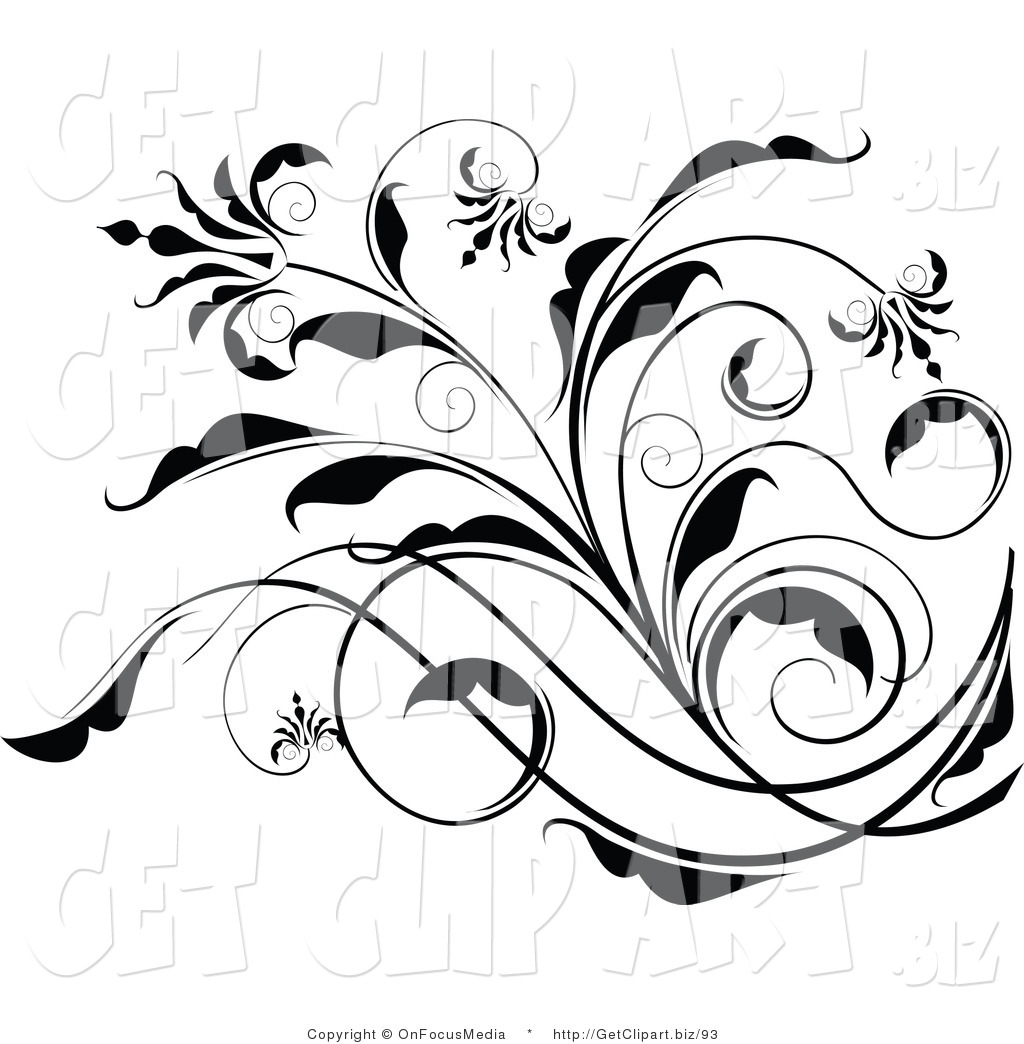 13 Black And White Scroll Designs Images