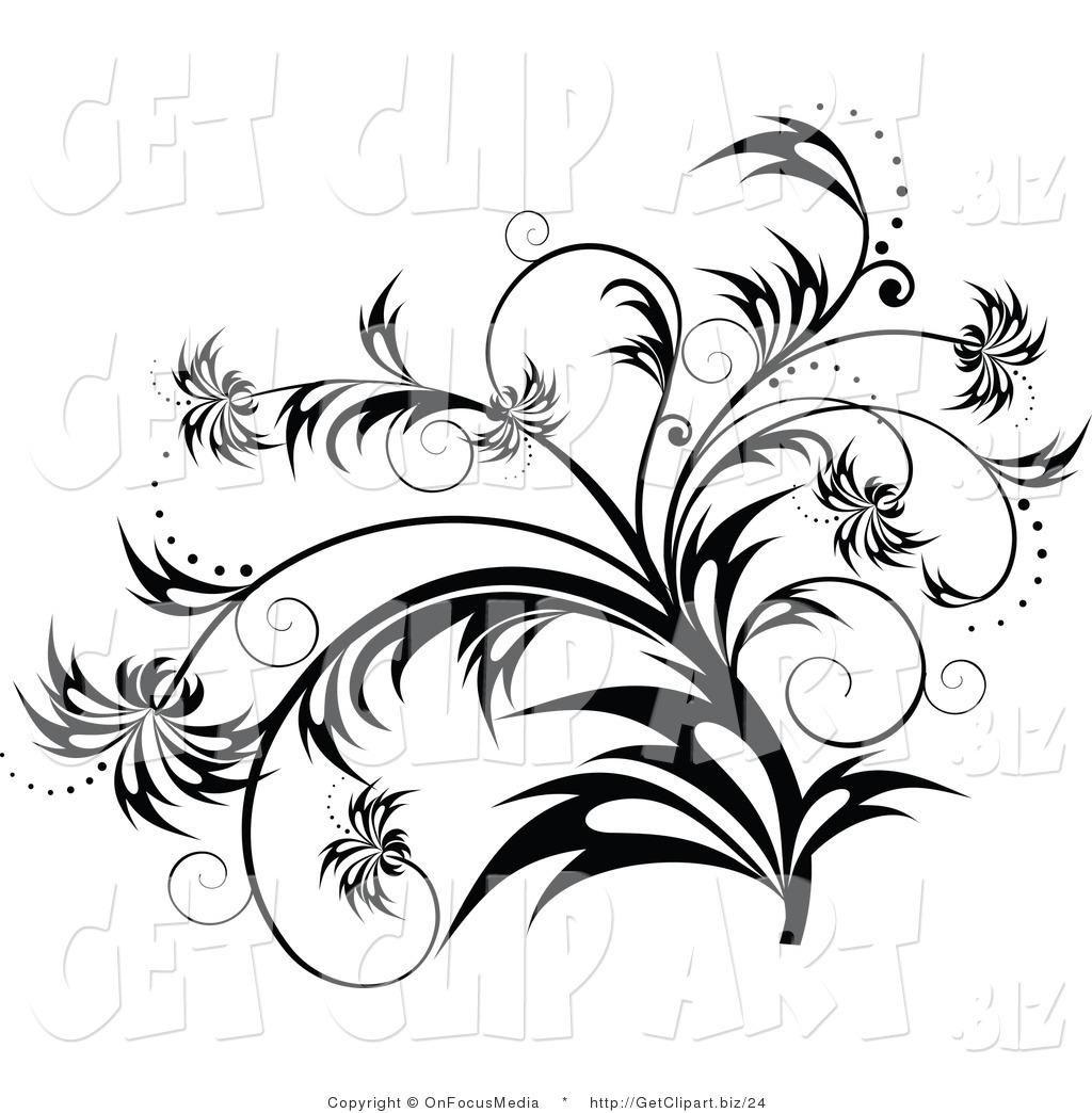 Elegant Black and White Clip Art