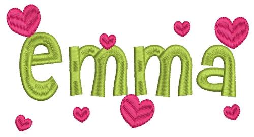 5 Emma Monogram Font Images