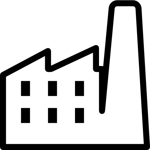 13 Black Factory Icon Images