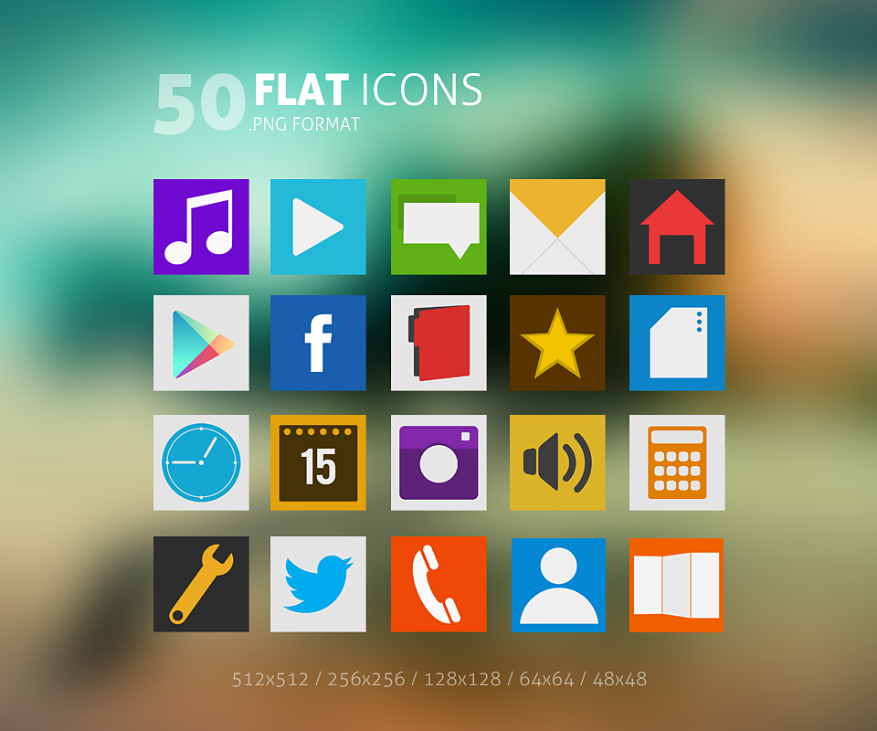 15 Windows Desktop Icons Flat Images