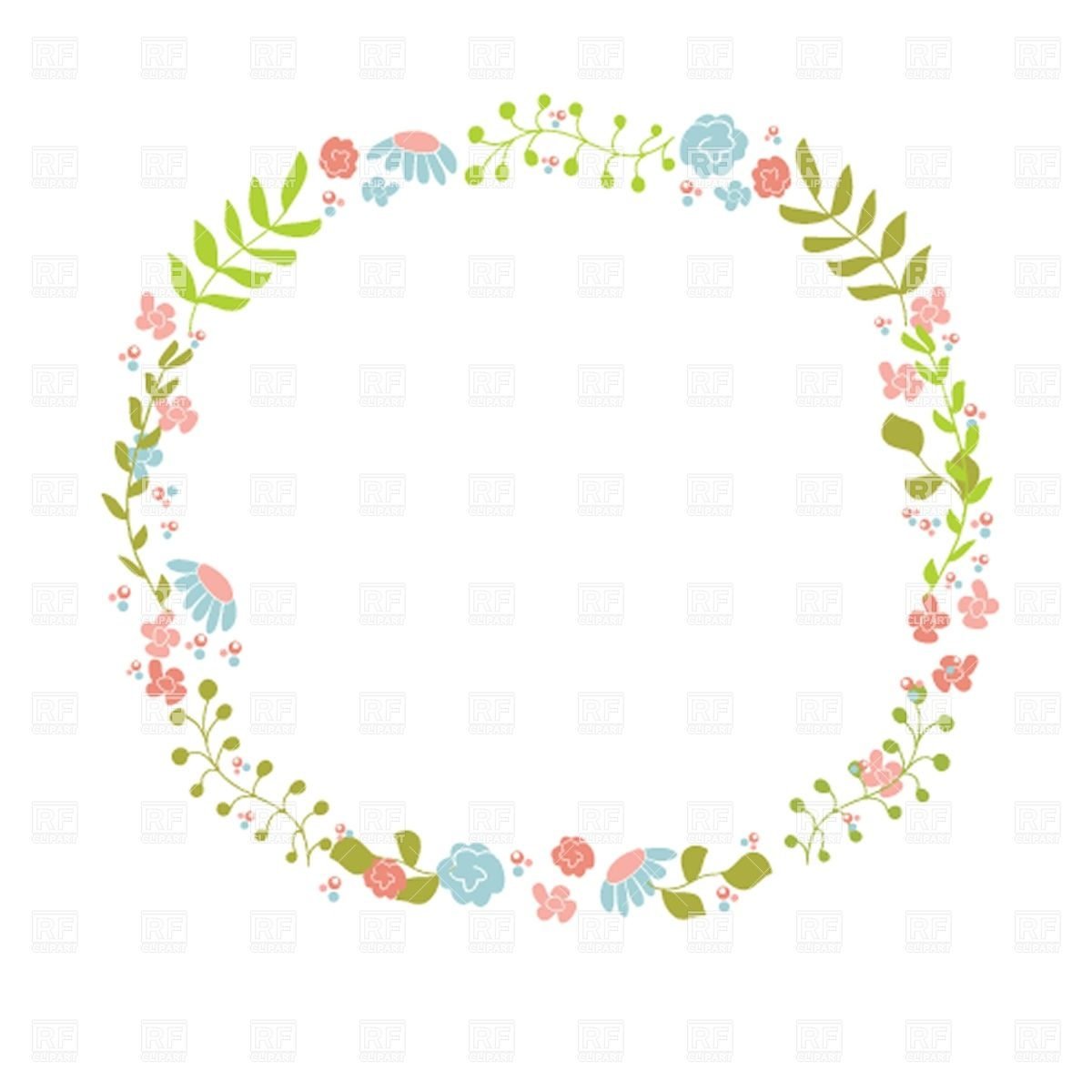Floral Wreath Clip Art Free