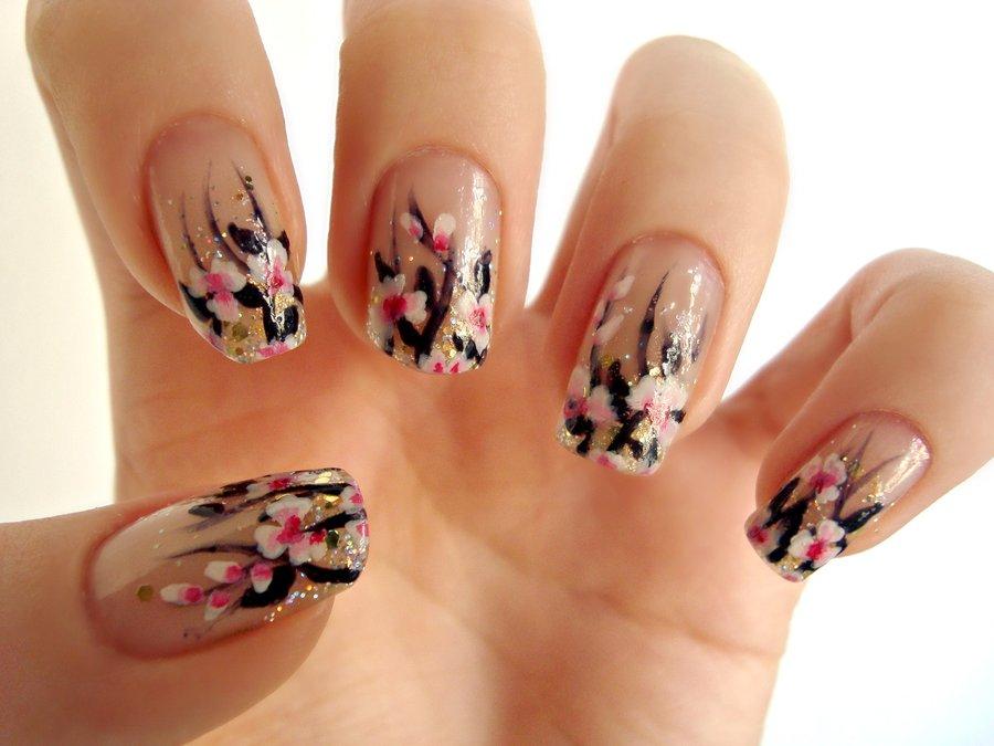 18 Pink Flower Nail Designs Images - Pink Flower Nail Design, Flower ...