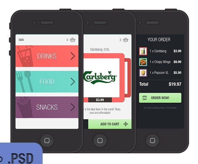 15 IPhone App PSD Images