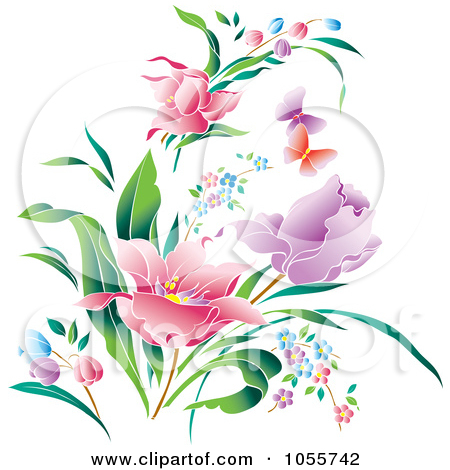 15 Spring Flowers Clip Art Vector Images