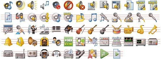 Free Desktop Music Icons