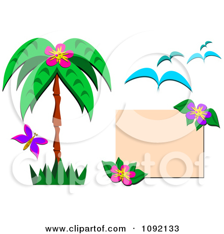 10 Tropical Design Elements Free Images