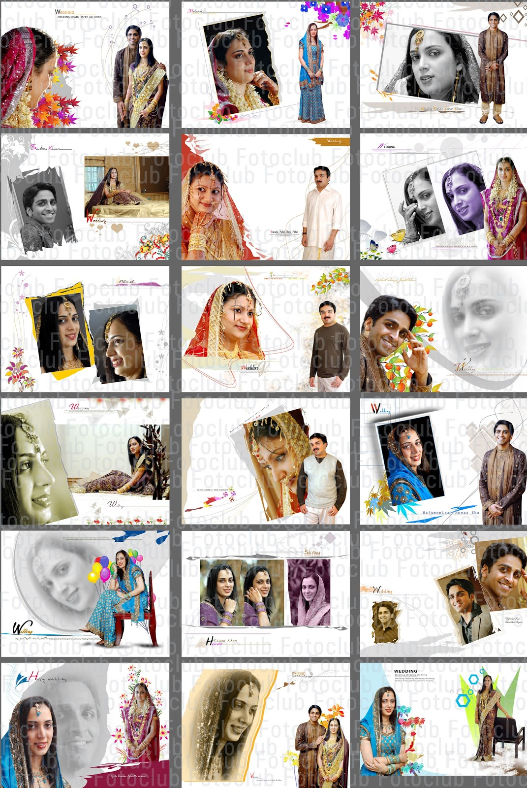 Free Wedding Album Templates Photoshop