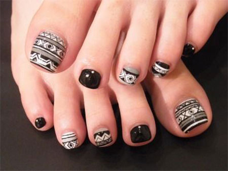 15 Unique Toe Nail Designs Images