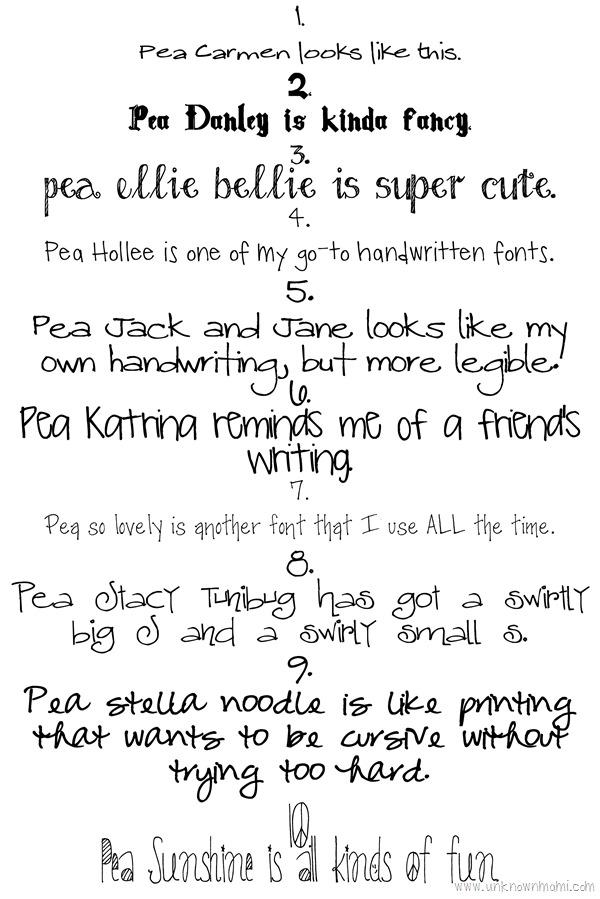 Handwritten Fonts Free Downloads