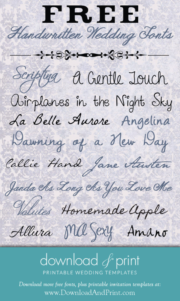 Handwritten Fonts Free Downloads