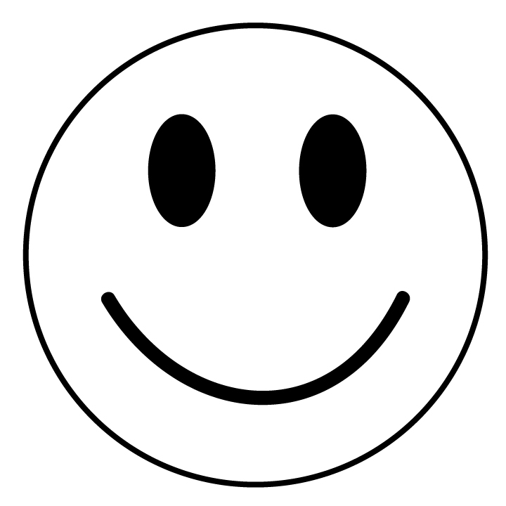 Happy Face Clip Art Black and White