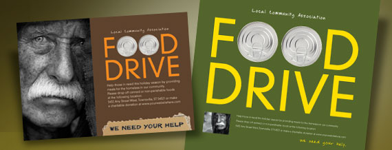 13 Charity Food Drive Poster Designs Images