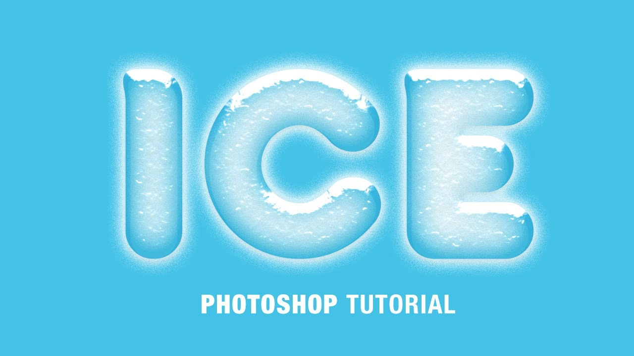 Ice Letters Photoshop