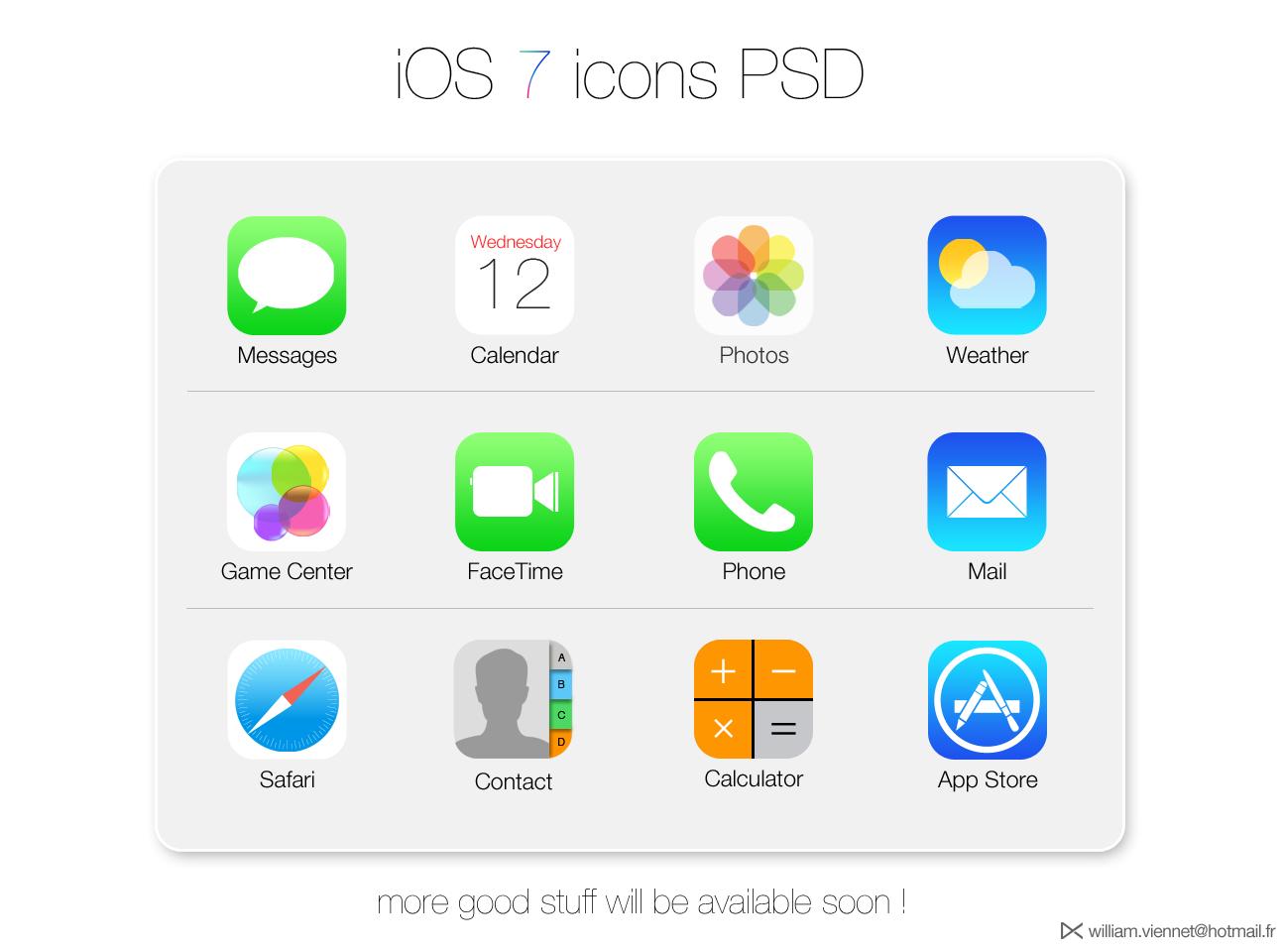 iOS 7 App Icon Vector