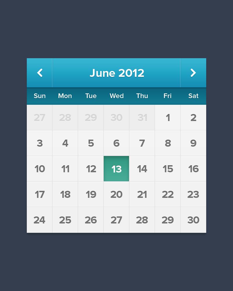 iPhone Calendar App Icon PSD