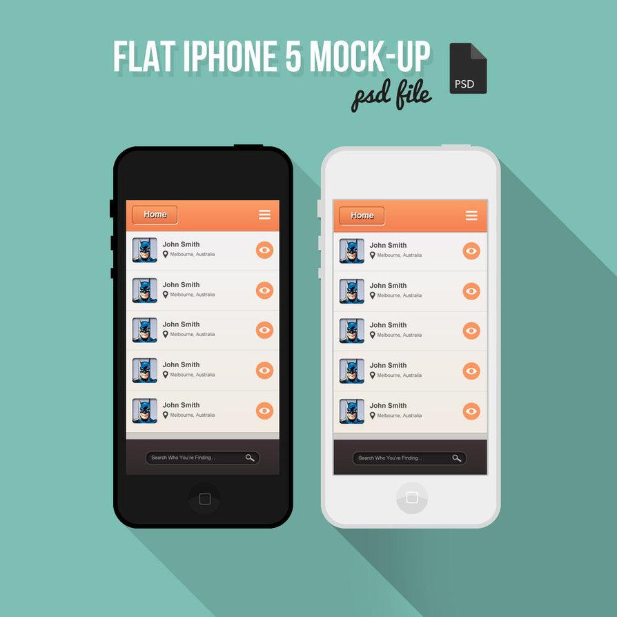 iPhone Mock Up Template PSD