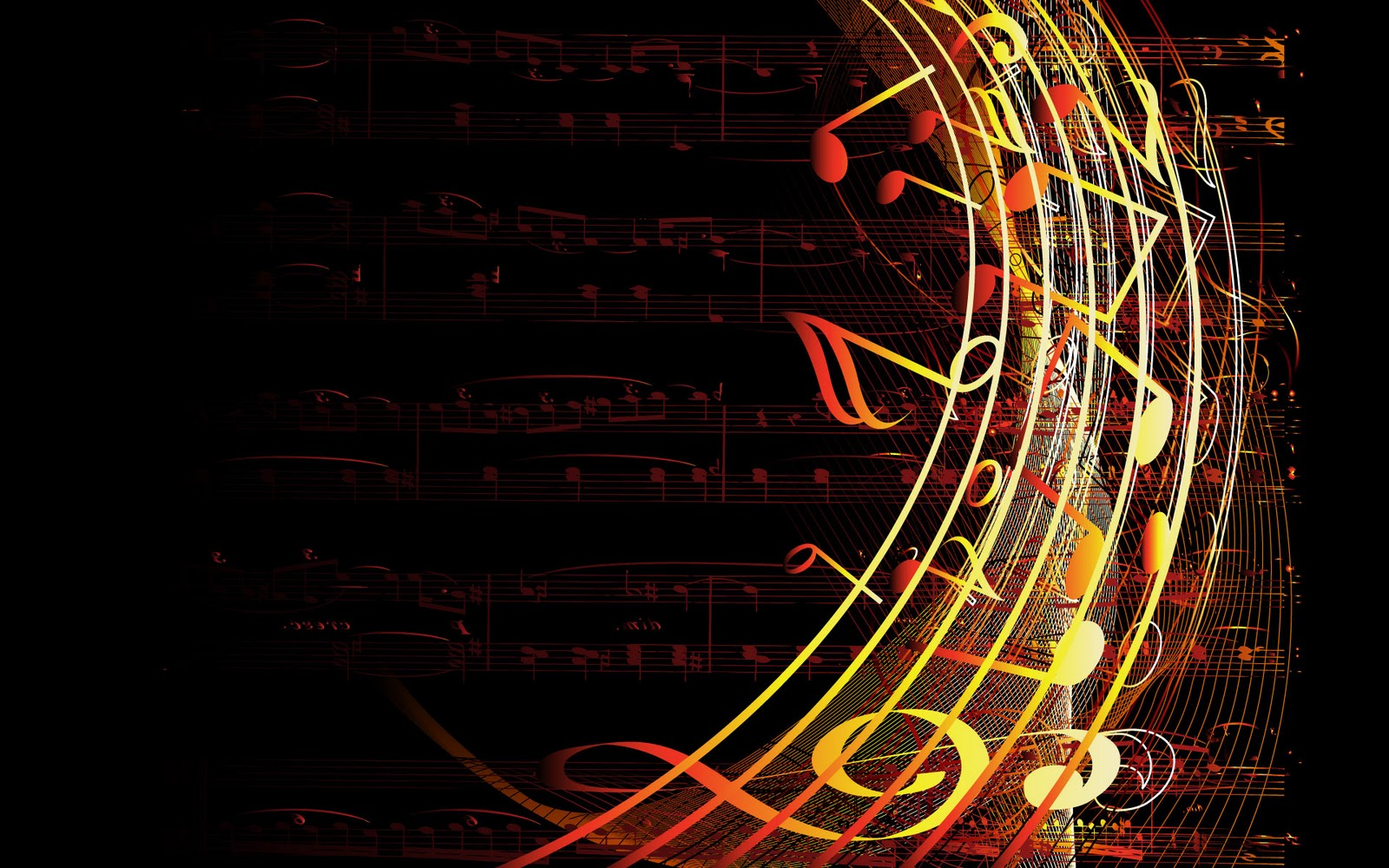 14 Free Vector Music Backgrounds Images