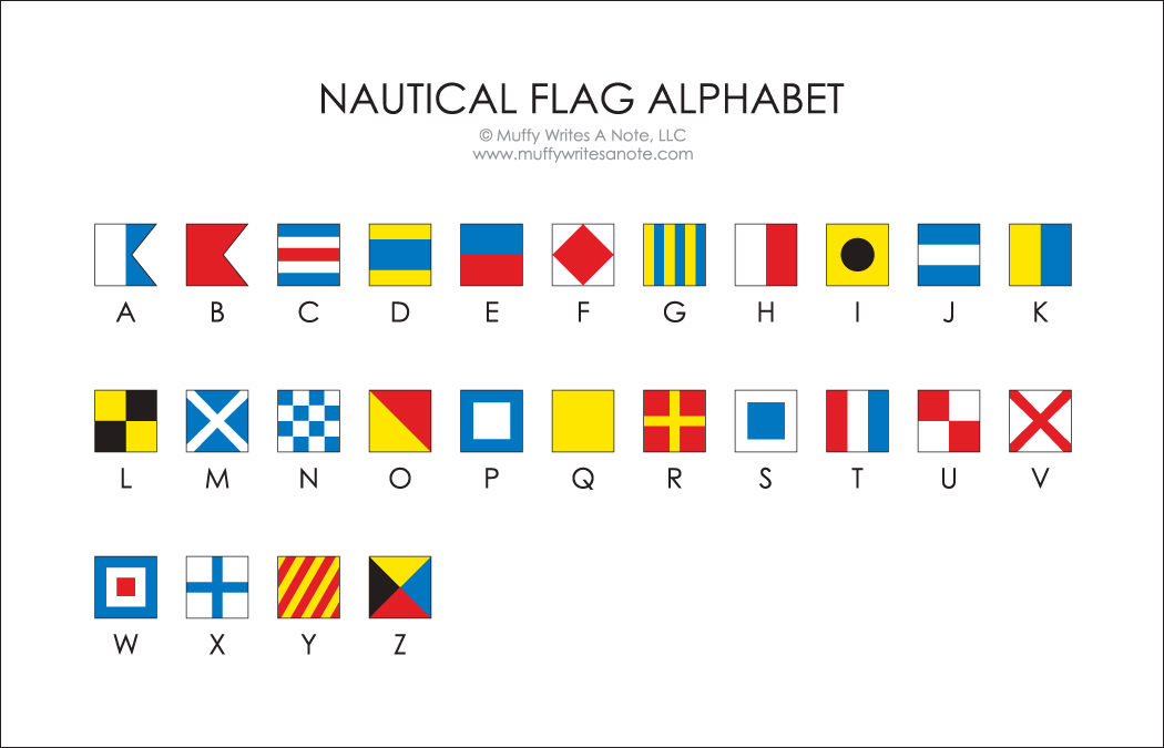 8 Nautical Flag Alphabet Font Images