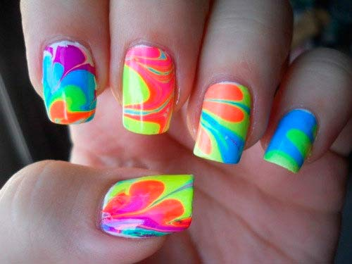 15 Neon Toe Nail Designs 2014 Images