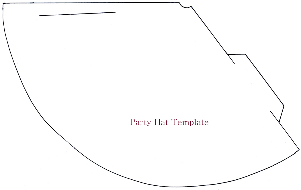 New Year Party Hat Template
