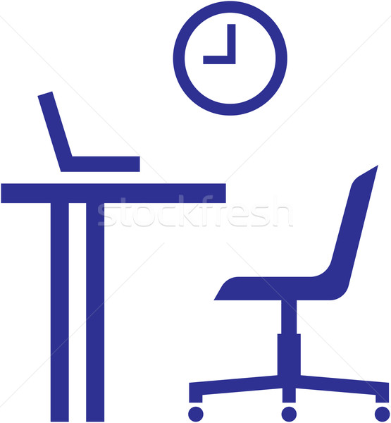 17 Chair Table And Office Vector Images