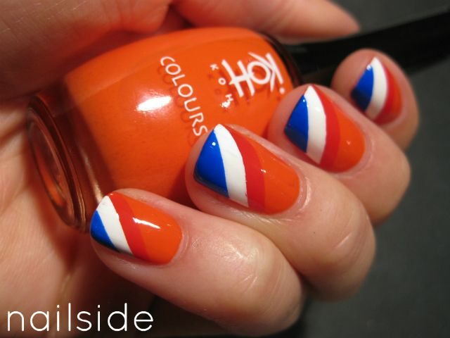 15 Orange And Blue Nail Designs Images