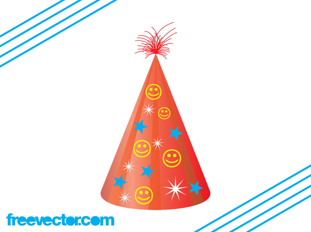 Party Hat Vector Clip Art